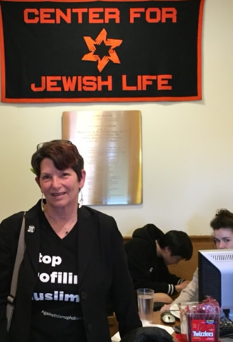 Penny at Center for Jewish Life, Princeton, April 2016