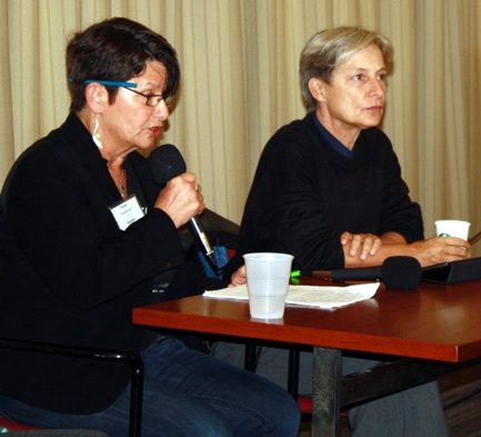 Penny Rosenwasser and Judith Butler at Open Hillel Conference October 2014