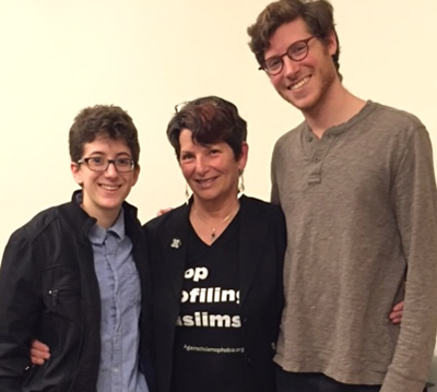 Penny with event attendees in Princeton, April 2016