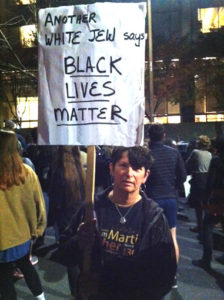 Penny Rosenwasser at Black Lives Matter rally