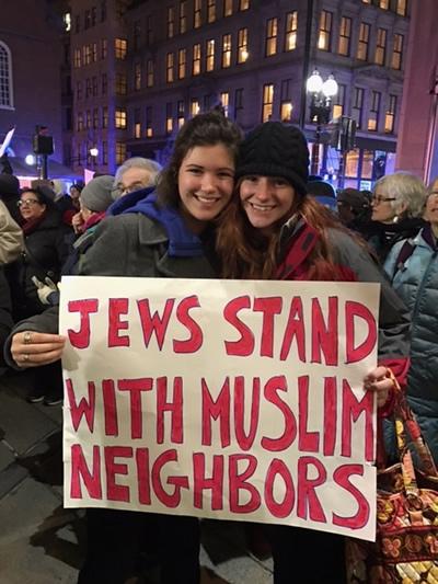 Jews stand with Muslim neighbors.