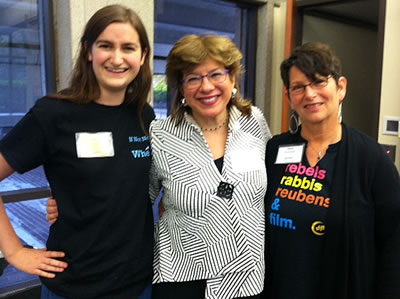 Penny at the Open Hillel Conference with organizer Rachel Sandalow-Ash and co-panelist Professor Susannah Heschel