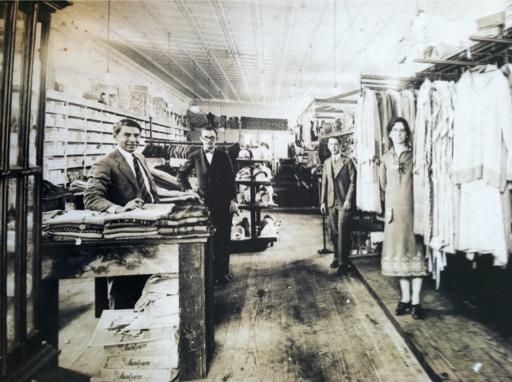 Penny Rosenwasser's grandfather Moishe Ness's dry goods store in Denmark, South Carolina, in the 1930's-40's